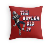 The Butler Did It - New England Patriots Malcolm Butler 21 Throw Pillow