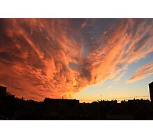 Sunset over Brooklyn New York  Photographic Print
