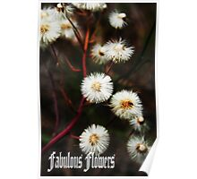 Fabulous flowers Poster