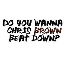 Chris Brown Photographic Print