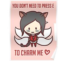 Ahri - Valentine's Day [ League Of Legends ] Poster