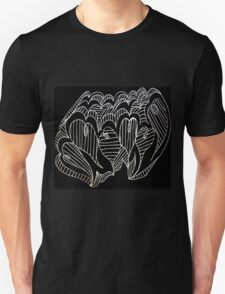 White Lined Hearts Unisex T-Shirt