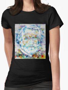 GIUSEPPE VERDI - watercolor portrait Womens Fitted T-Shirt
