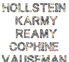 HOLLSTEIN,KARMY,REAMY,COPHINE AND VAUSEMAN by alyssadesigns