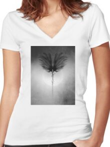 abstract 1 a Women's Fitted V-Neck T-Shirt