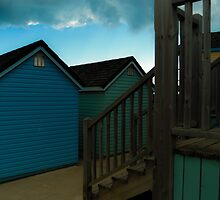 beach huts in bournemouth dorset  by chrissiexxx68