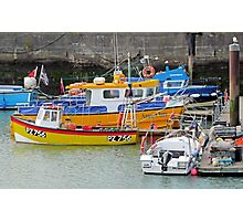 Devon harbour with boats Photographic Print