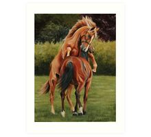 Yearling colts at play Art Print