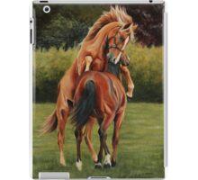 Yearling colts at play iPad Case/Skin