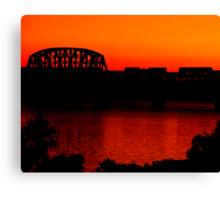 Sunset Train Ride Canvas Print