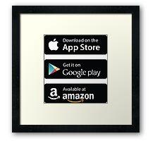 App Store Badges Framed Print