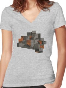 The Void 5 collage Women's Fitted V-Neck T-Shirt