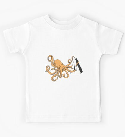 How am I gonna be an octopus about this - Orange Kids Tee