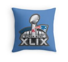 New England Patriots Superbowl 49 Champions Throw Pillow