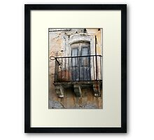 abandoned balcony Framed Print