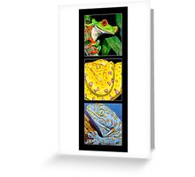 Reptile Triple Greeting Card