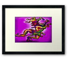 Mardi Gras Jester Framed Print