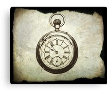 Vintage Pocket watch Canvas Print