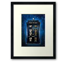 Space Traveller Box with 221b number Framed Print