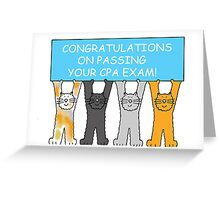 Congratulations on passing the CPA exam. Greeting Card