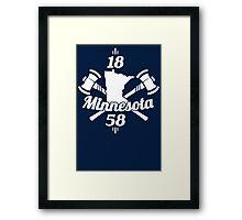 Minnesota 1858 Framed Print