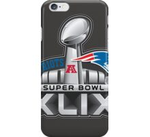 New England Patriots Superbowl 49 Champions iPhone Case/Skin