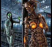 Cyberpunk Painting 045 by Ian Sokoliwski