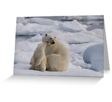 Polar Bear Cub & Mum Greeting Card