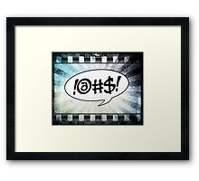 Comic @#$! Framed Print