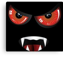 Evil face with red eyes Canvas Print