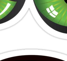 Evil face with green eyes Sticker