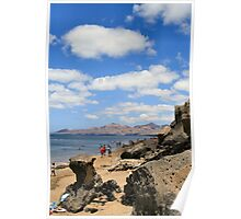 Beach at Puerta del Carmen Poster
