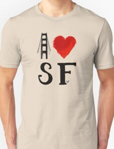 I Heart San Francisco (remix) by Tai's Tees T-Shirt