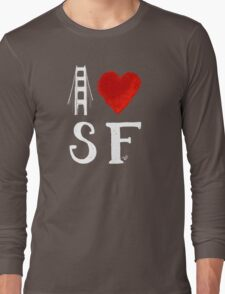 I Heart San Francisco (remix) by Tai's Tees Long Sleeve T-Shirt