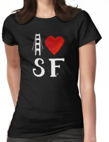 I Heart San Francisco (remix) by Tai's Tees Womens Fitted T-Shirt