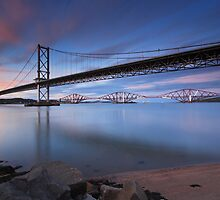 Both Bridges Sunset by duncansmith