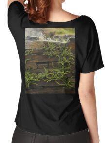 Spleenwort Maidenhair fern on wall at Cashelnagor Women's Relaxed Fit T-Shirt