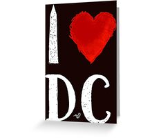 I Heart DC (remix,white) by Tai's Tees Greeting Card
