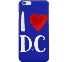 I Heart DC (remix,white) by Tai's Tees iPhone Case/Skin