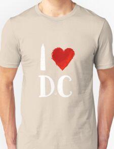 I Heart DC (remix,white) by Tai's Tees T-Shirt