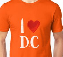I Heart DC (remix,white) by Tai's Tees Unisex T-Shirt
