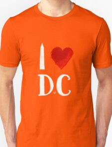 I Heart DC (remix,white) by Tai's Tees T-Shirt
