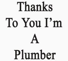 Thanks To You I'm A Plumber  by supernova23