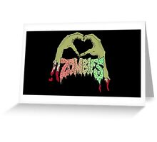 I love Zombies - Multiple products -  Greeting Card