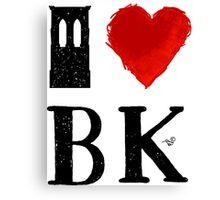 I Heart Brooklyn (remix) by Tai's Tees Canvas Print