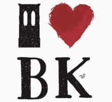 I Heart Brooklyn (remix) by Tai's Tees One Piece - Long Sleeve