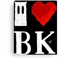 I Heart Brooklyn (remix, white) by Tai's Tees Canvas Print