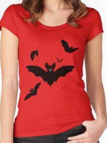 Halloween Bats Women's Fitted Scoop T-Shirt