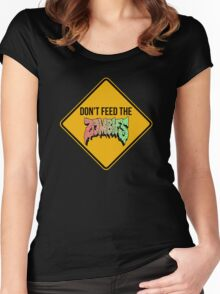 Don't feed the zombies  Women's Fitted Scoop T-Shirt