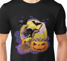 Halloween card with pumpkins and cat 2 Unisex T-Shirt